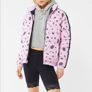 NWT Fila UO reversible quilted puffer jacket M